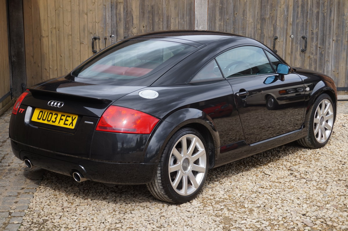 2003 AUDI TT 1.8T 225BHP QUATTRO BLACK WITH RED LEATHER For Sale (picture 1 of 6)