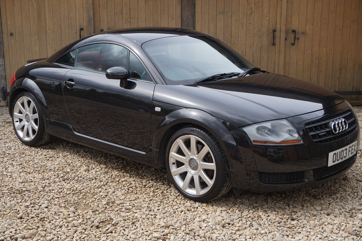2003 AUDI TT 1.8T 225BHP QUATTRO BLACK WITH RED LEATHER For Sale (picture 4 of 6)