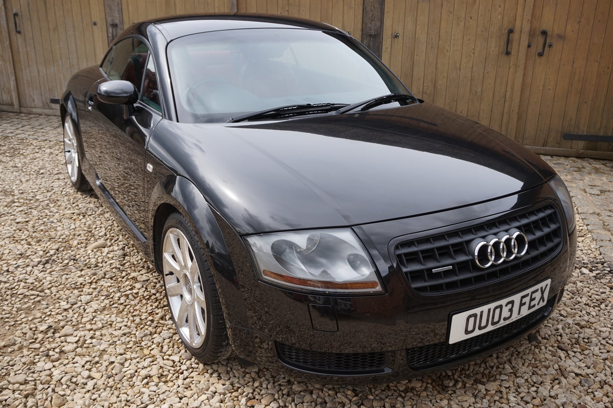 2003 AUDI TT 1.8T 225BHP QUATTRO BLACK WITH RED LEATHER For Sale (picture 5 of 6)