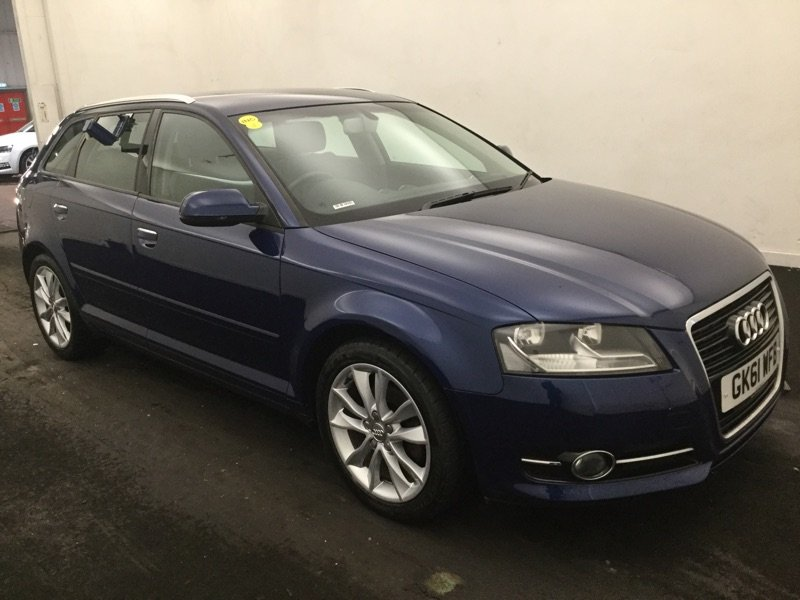 2011/61 Audi A3 1.8TFSi Sport S Tronic 5dr 68391 miles FSH For Sale (picture 1 of 6)
