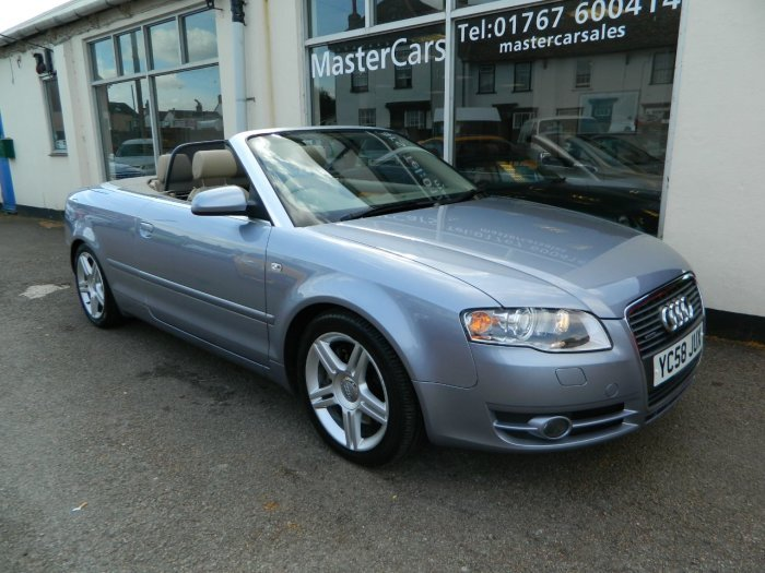2008/58 Audi A4 Cab 3.0TDi T/tronic Sport Quattro 62481mls For Sale (picture 1 of 6)