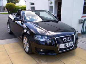 EXCELLENT 2010 AUDI A3 2.0 SPORT TFSI  CONVERTIBLE FSH       For Sale