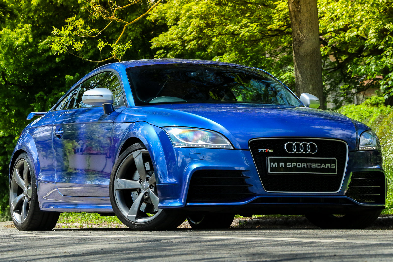 2009 Audi TTRS Sepang Blue Recaro Wingback Seats Manual For Sale (picture 1 of 6)
