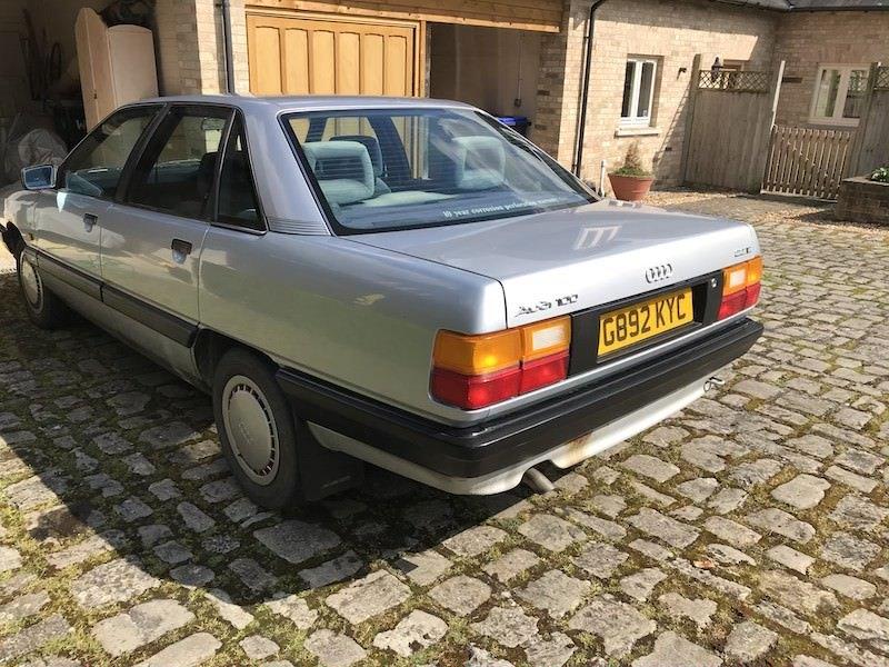 1989 Audi 100 C3 2.2 E 10V Manual Silver MOT For Sale (picture 1 of 6)