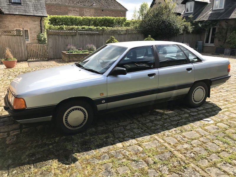 1989 Audi 100 C3 2.2 E 10V Manual Silver MOT For Sale (picture 2 of 6)