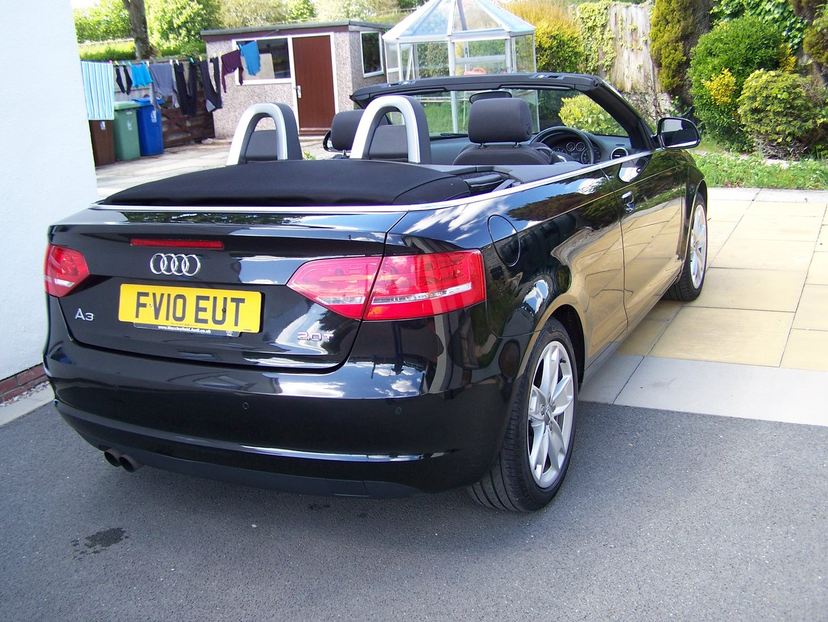 EXCELLENT 2010 AUDI A3 2.0 SPORT TFSI  CONVERTIBLE FSH       SOLD (picture 3 of 6)
