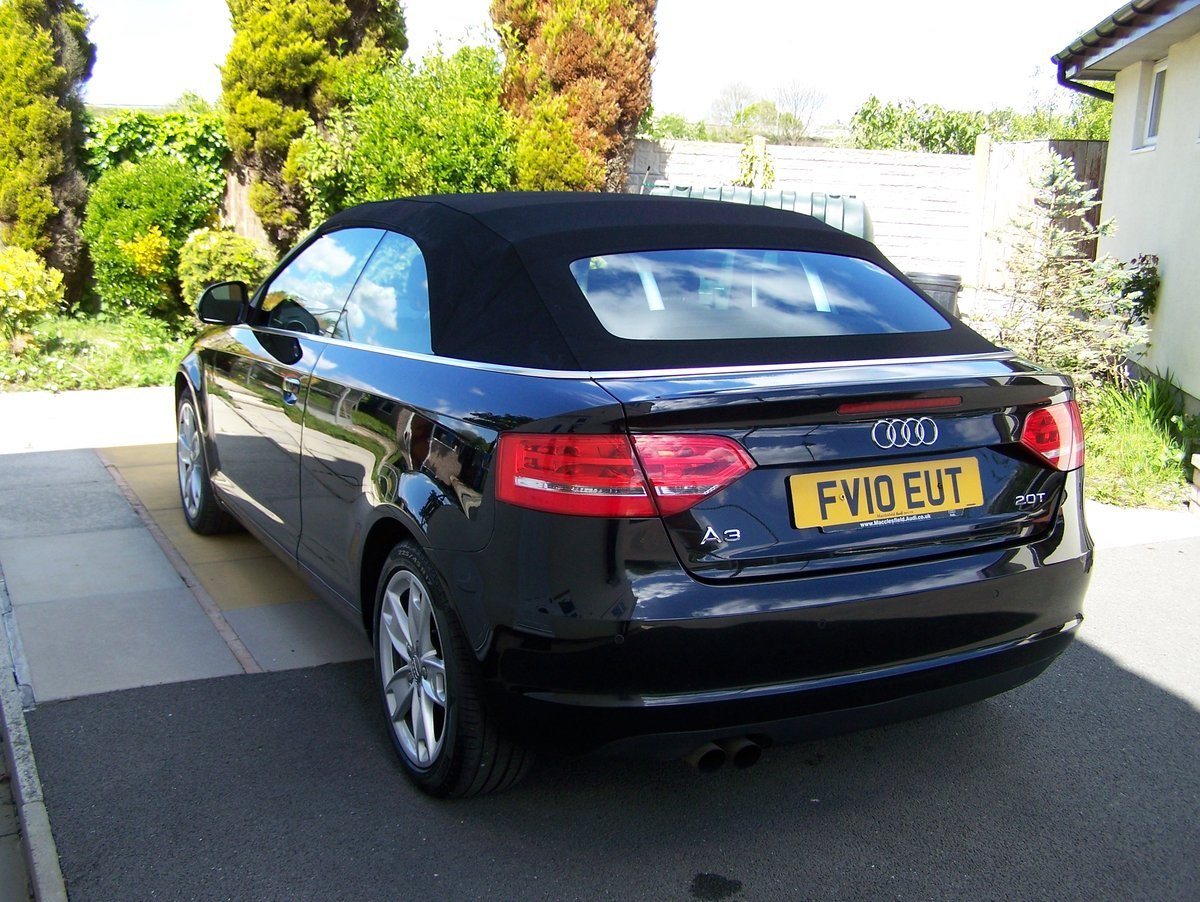 EXCELLENT 2010 AUDI A3 2.0 SPORT TFSI  CONVERTIBLE FSH       SOLD (picture 4 of 6)