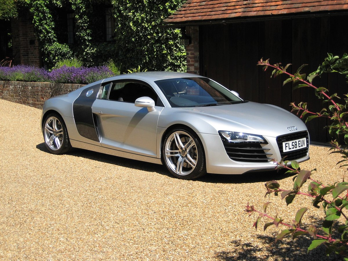 2008 Audi R8 Quattro 1 Owner From New With Only 9,600 Miles For Sale (picture 1 of 6)