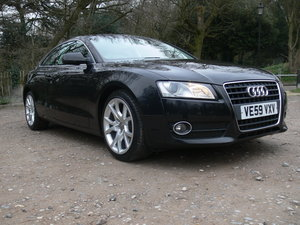 2010 Lovely A5 Petrol Coupe Sport Black with Black Leather For Sale
