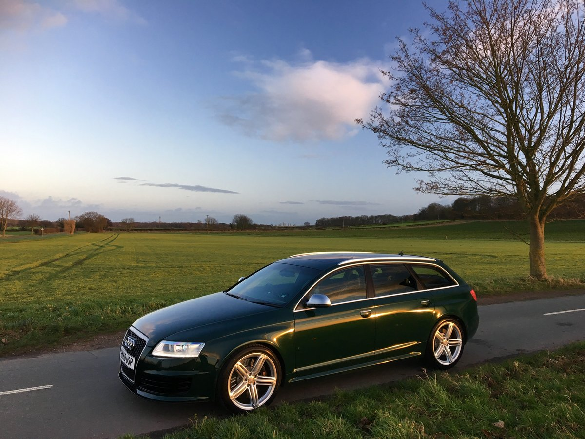2008 58 Audi C6 RS6 V10 Avant Monterey Green Pearl For Sale (picture 1 of 6)
