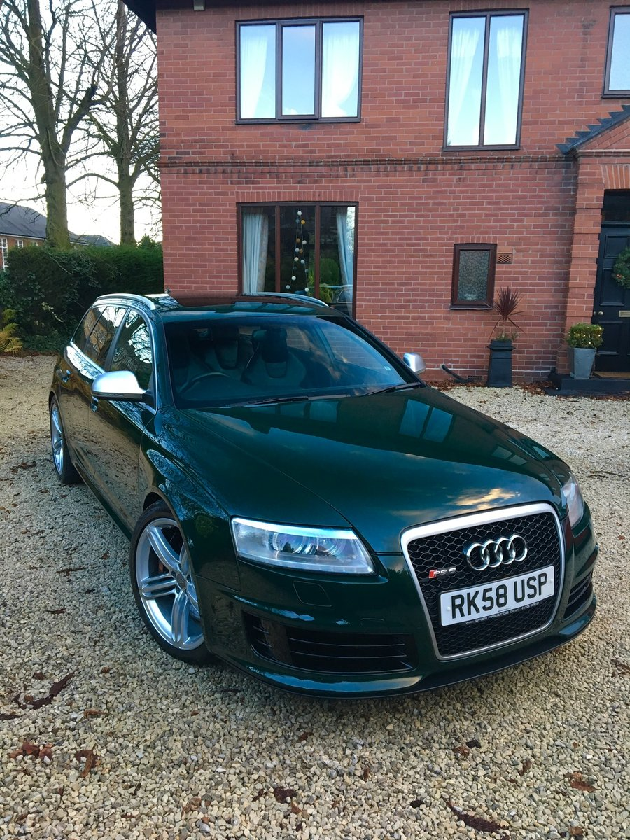 2008 58 Audi C6 RS6 V10 Avant Monterey Green Pearl For Sale (picture 3 of 6)