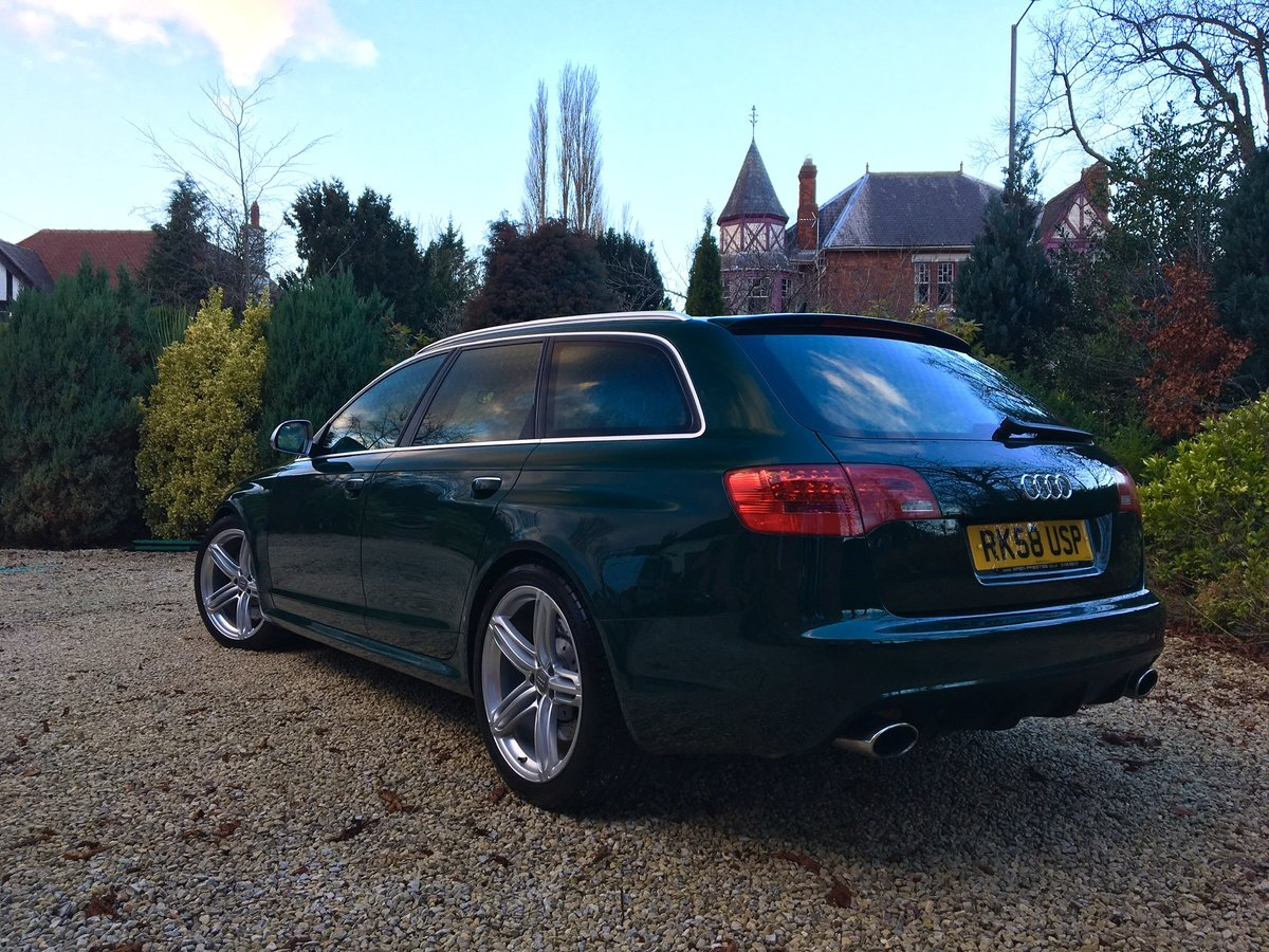 2008 58 Audi C6 RS6 V10 Avant Monterey Green Pearl For Sale (picture 4 of 6)