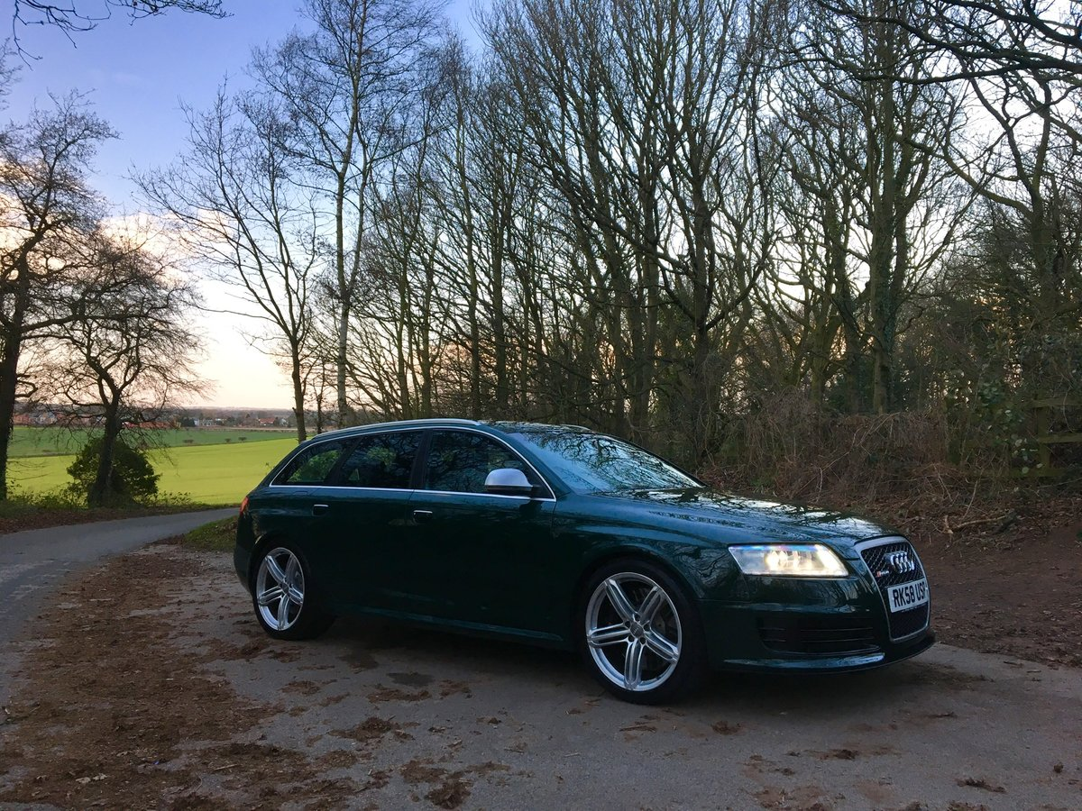 2008 58 Audi C6 RS6 V10 Avant Monterey Green Pearl For Sale (picture 5 of 6)