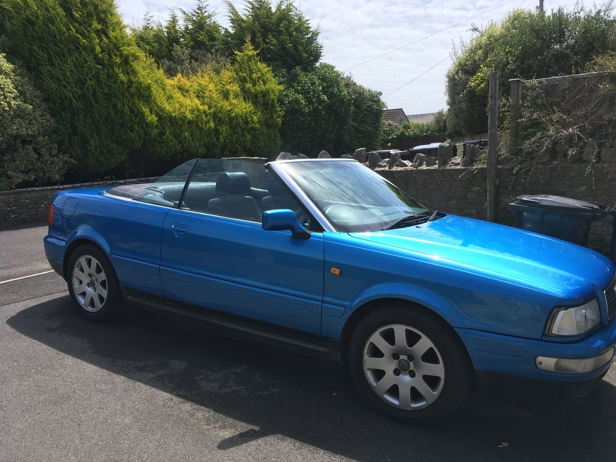 Audi 80 Cabriolet 2.6 V6 Auto 1999 Kingfisher Blue SOLD (picture 1 of 6)