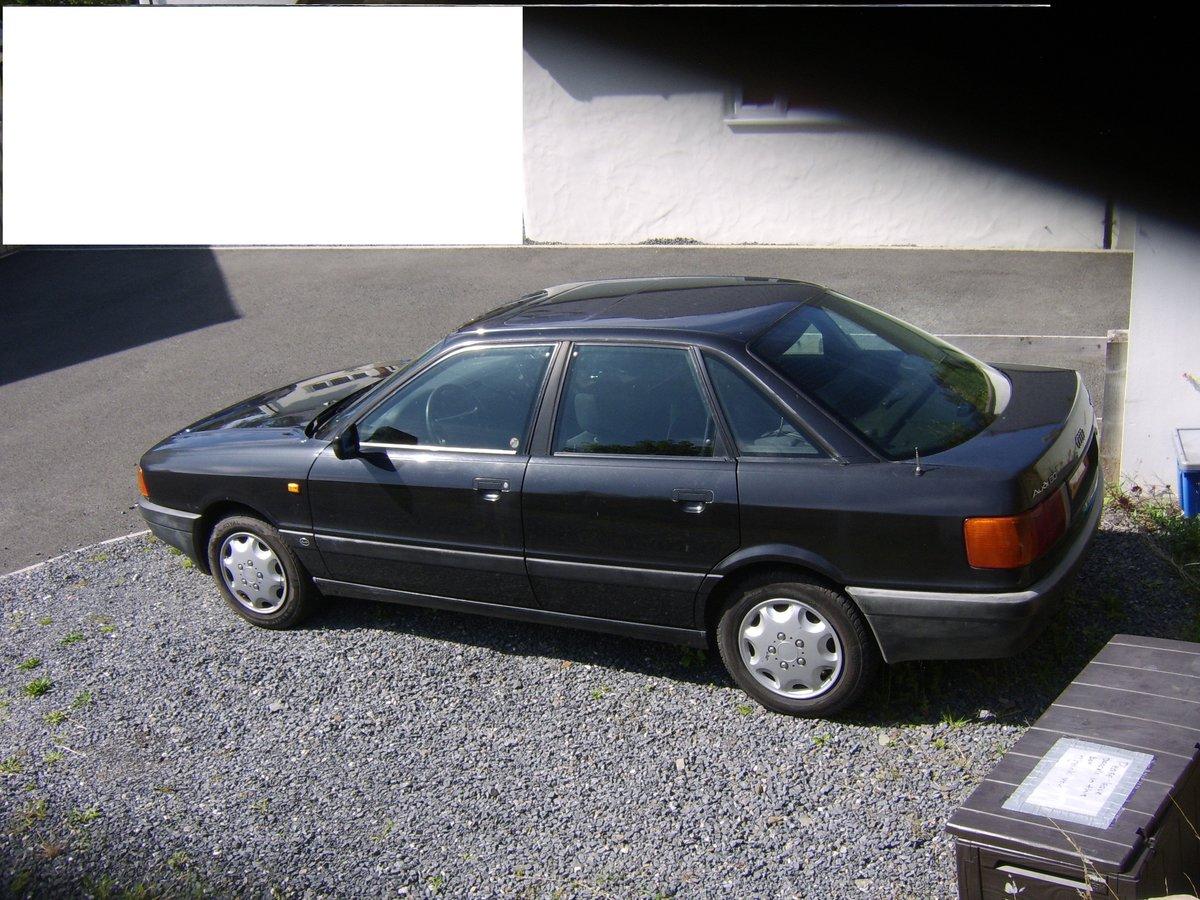 1990 BLACK AUDI 80 OLDTIMER - LEFT HAND DRIVE - SUNROOF For