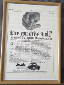1966 Audi Advert Original