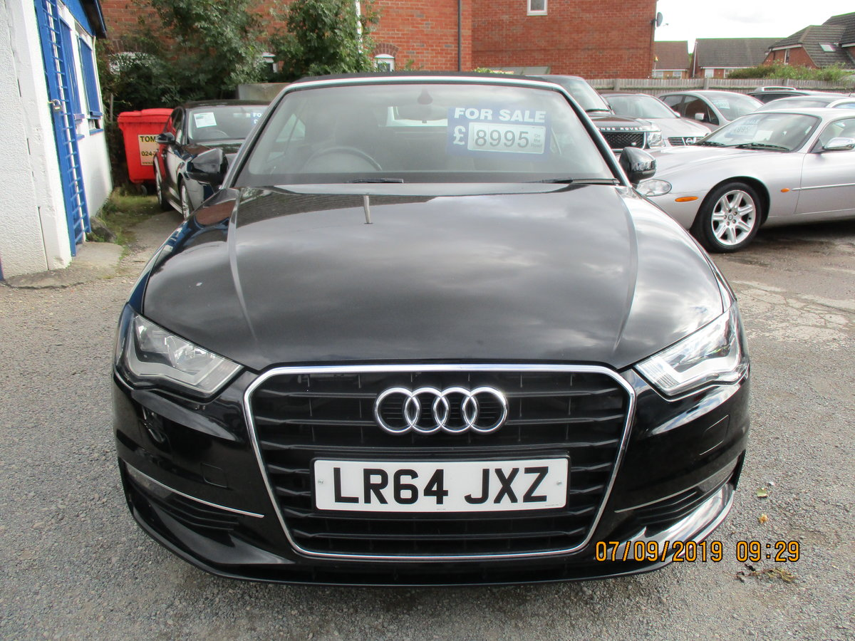 2014 A3 CONVERTIBLE IN BLACK WITH ONLY 45,000 NEW MOT CAT N LIGHT For Sale (picture 1 of 6)