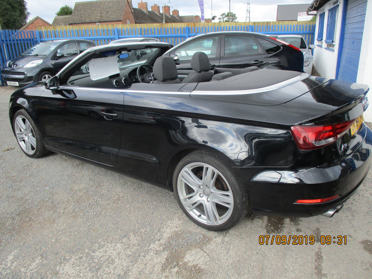 2014 A3 CONVERTIBLE IN BLACK WITH ONLY 45,000 NEW MOT CAT N LIGHT For Sale (picture 3 of 6)