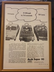 1967 Audi Super 90 Advert Original