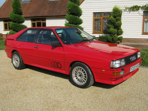 1989 AUDI UR QUATTRO COUPE 2.2 TURBO. LEATHER INTERIOR. SOLD