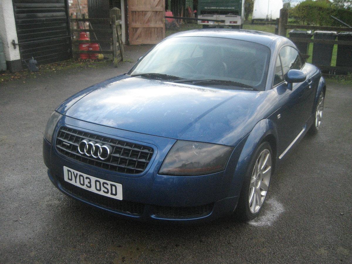 2003 Audi TT 1.8 Quatro turbo, bi fuel petrol / LPG For Sale (picture 1 of 6)