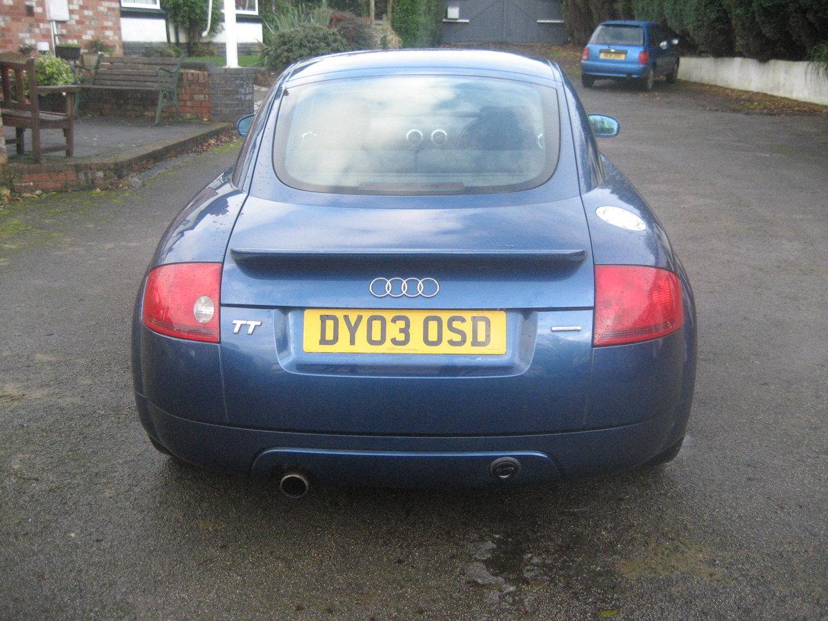 2003 Audi TT 1.8 Quatro turbo, bi fuel petrol / LPG For Sale (picture 3 of 6)