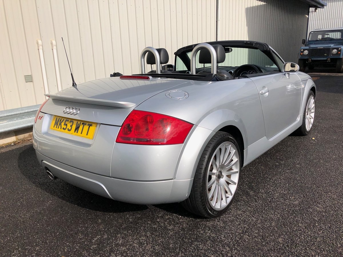 2003 53 AUDI TT 1.8 ROADSTER 150 BHP FUTURE CLASSIC! For Sale (picture 3 of 6)