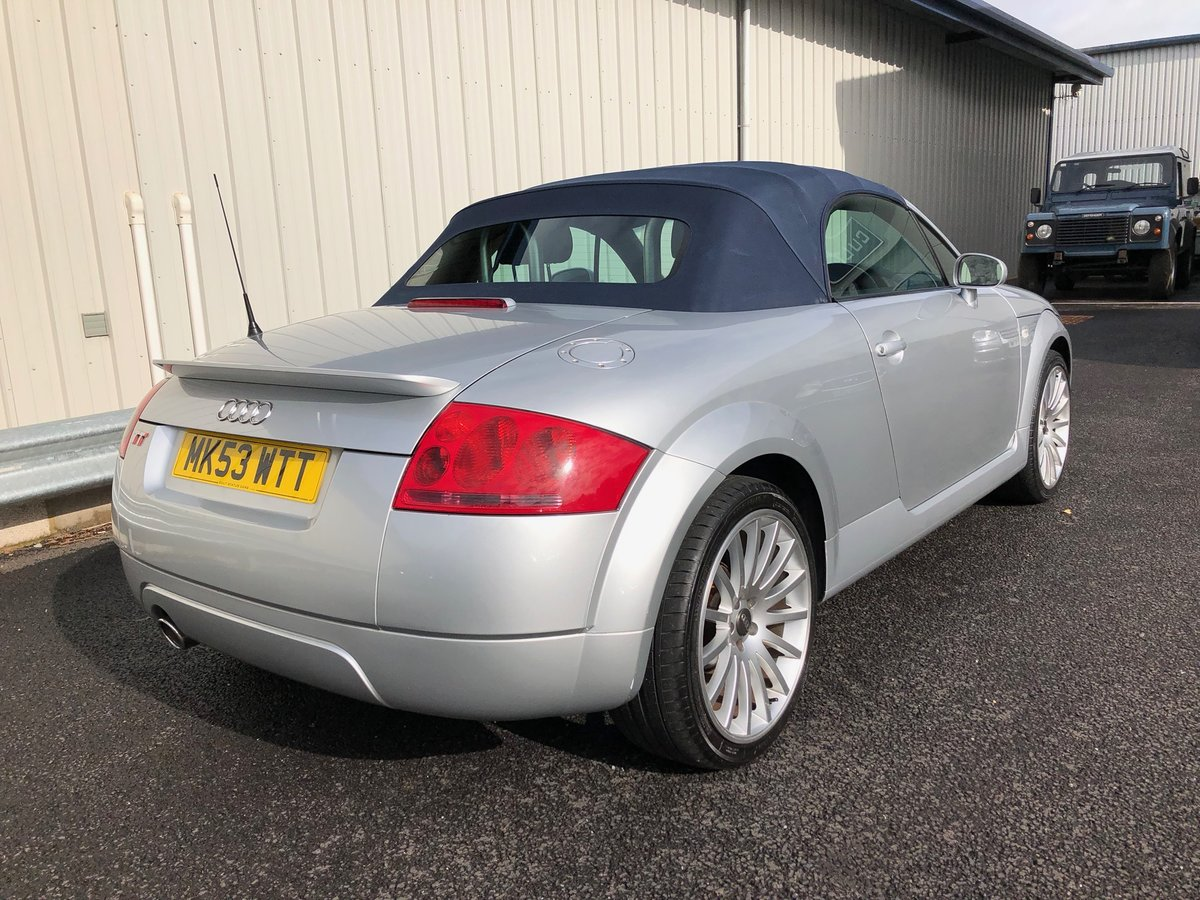 2003 53 AUDI TT 1.8 ROADSTER 150 BHP FUTURE CLASSIC! For Sale (picture 4 of 6)