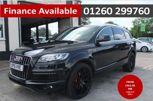 2015 AUDI Q7 3.0 TDI QUATTRO S LINE 5DR AUTOMATIC BLACK For Sale (picture 1 of 6)