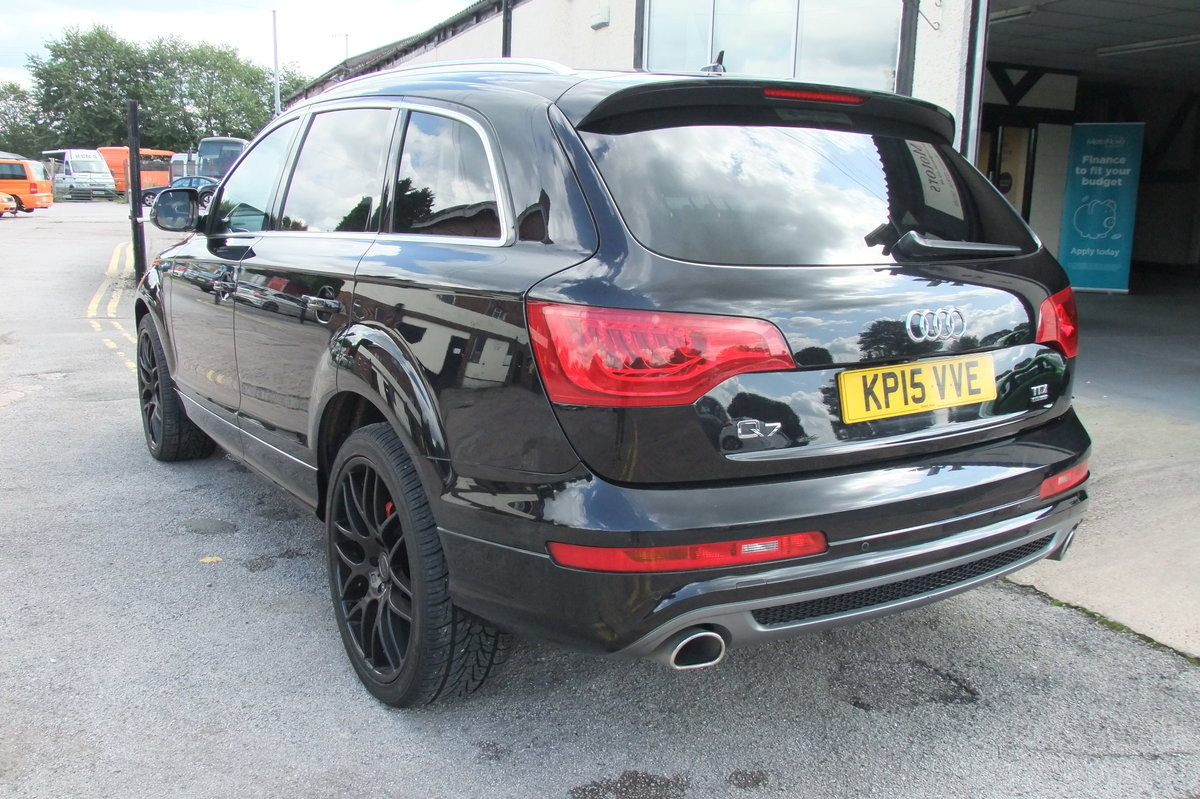 2015 AUDI Q7 3.0 TDI QUATTRO S LINE 5DR AUTOMATIC BLACK For Sale (picture 3 of 6)