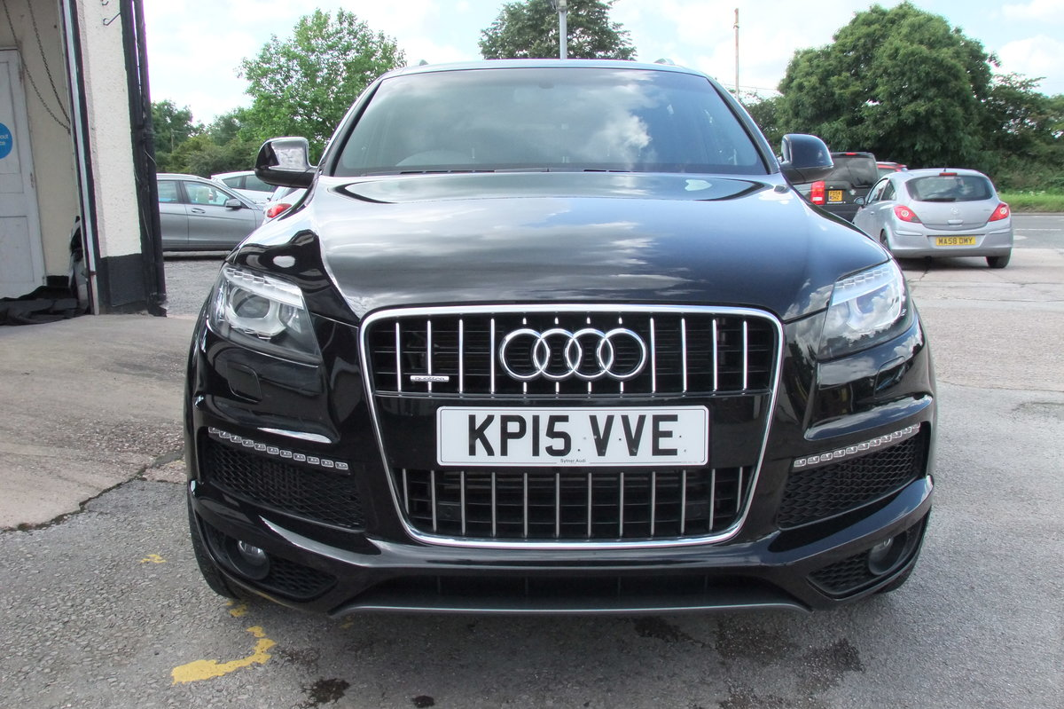 2015 AUDI Q7 3.0 TDI QUATTRO S LINE 5DR AUTOMATIC BLACK For Sale (picture 4 of 6)