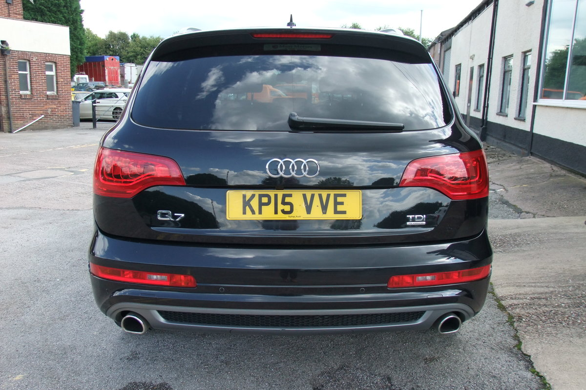 2015 AUDI Q7 3.0 TDI QUATTRO S LINE 5DR AUTOMATIC BLACK For Sale (picture 5 of 6)