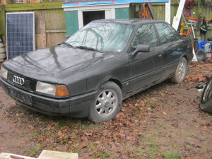 1989  Audi 80 (black) LHD. 31 years old classic