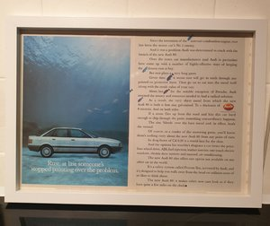 Original 1987 Audi 80 Framed Advert