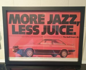 Original 1981 Audi Coupe Framed Advert