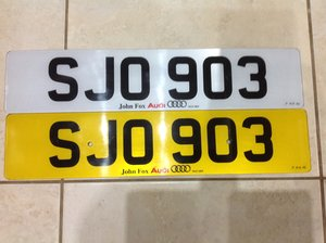 Number Plate  SJO 903 For Sale