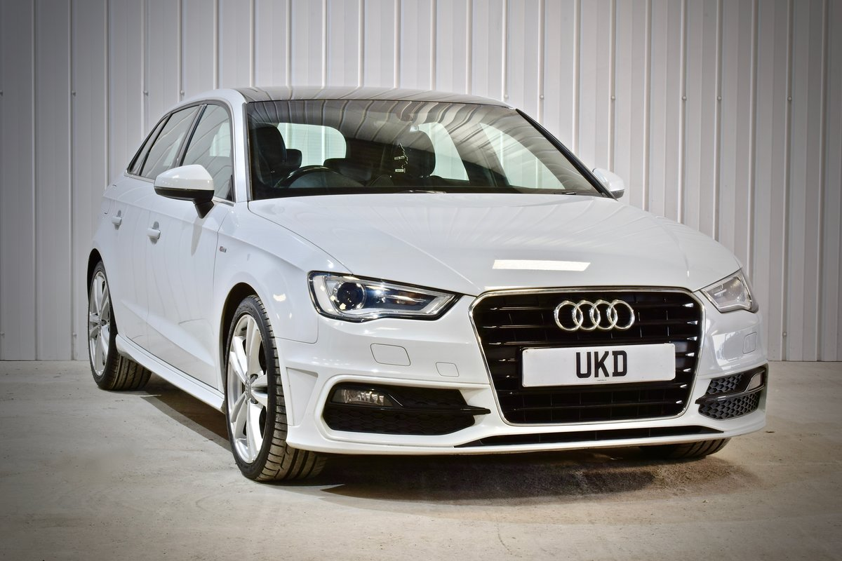 AUDI A3 S-LINE 2.0 5DR WHITE 2015 SPORTBACK SOLD (picture 1 of 15)
