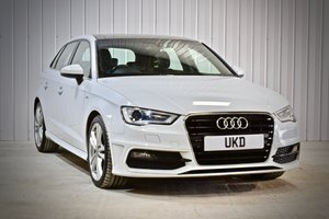 AUDI A3 S-LINE 2.0 5DR WHITE 2015 SPORTBACK SOLD