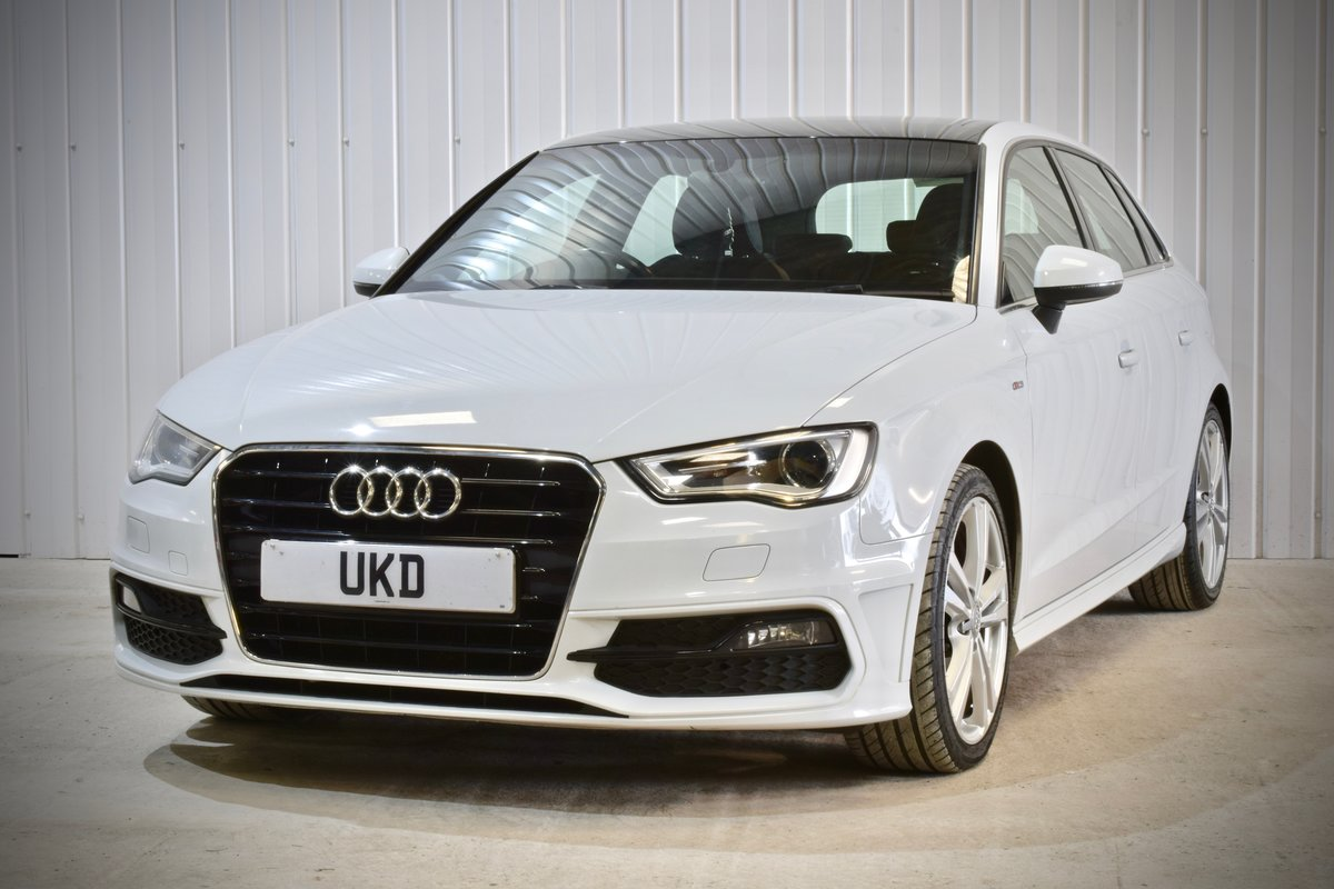 AUDI A3 S-LINE 2.0 5DR WHITE 2015 SPORTBACK SOLD (picture 2 of 15)