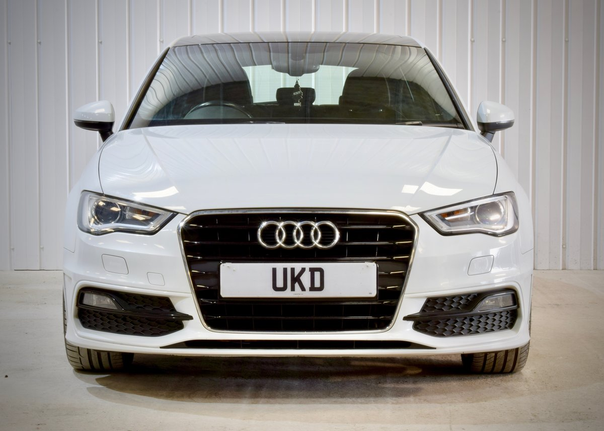 AUDI A3 S-LINE 2.0 5DR WHITE 2015 SPORTBACK SOLD (picture 3 of 15)