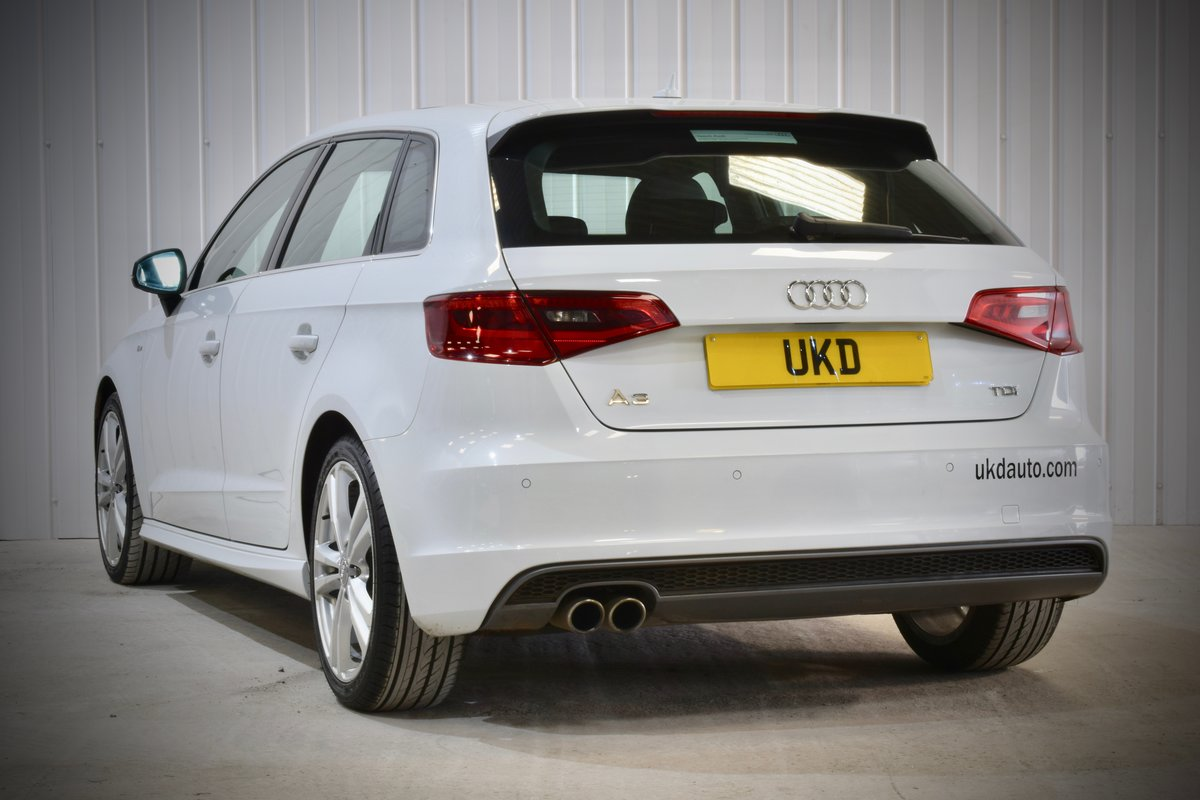AUDI A3 S-LINE 2.0 5DR WHITE 2015 SPORTBACK SOLD (picture 4 of 15)