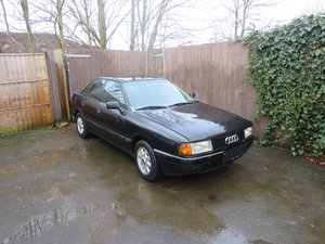 1989  Audi 80 (black) LHD. 31 years old classic For Sale