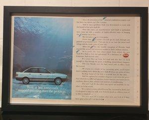1987 Audi 80 Framed Advert Original