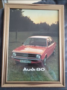 Original Audi 80 Framed Advert