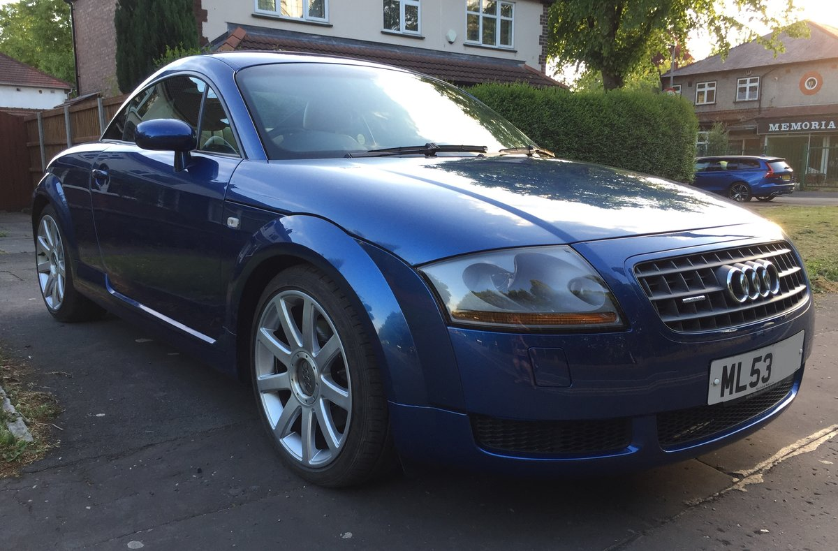 2003 Audi TT 225 Quattro 1 Lady owner FSH 53k miles For Sale (picture 1 of 6)