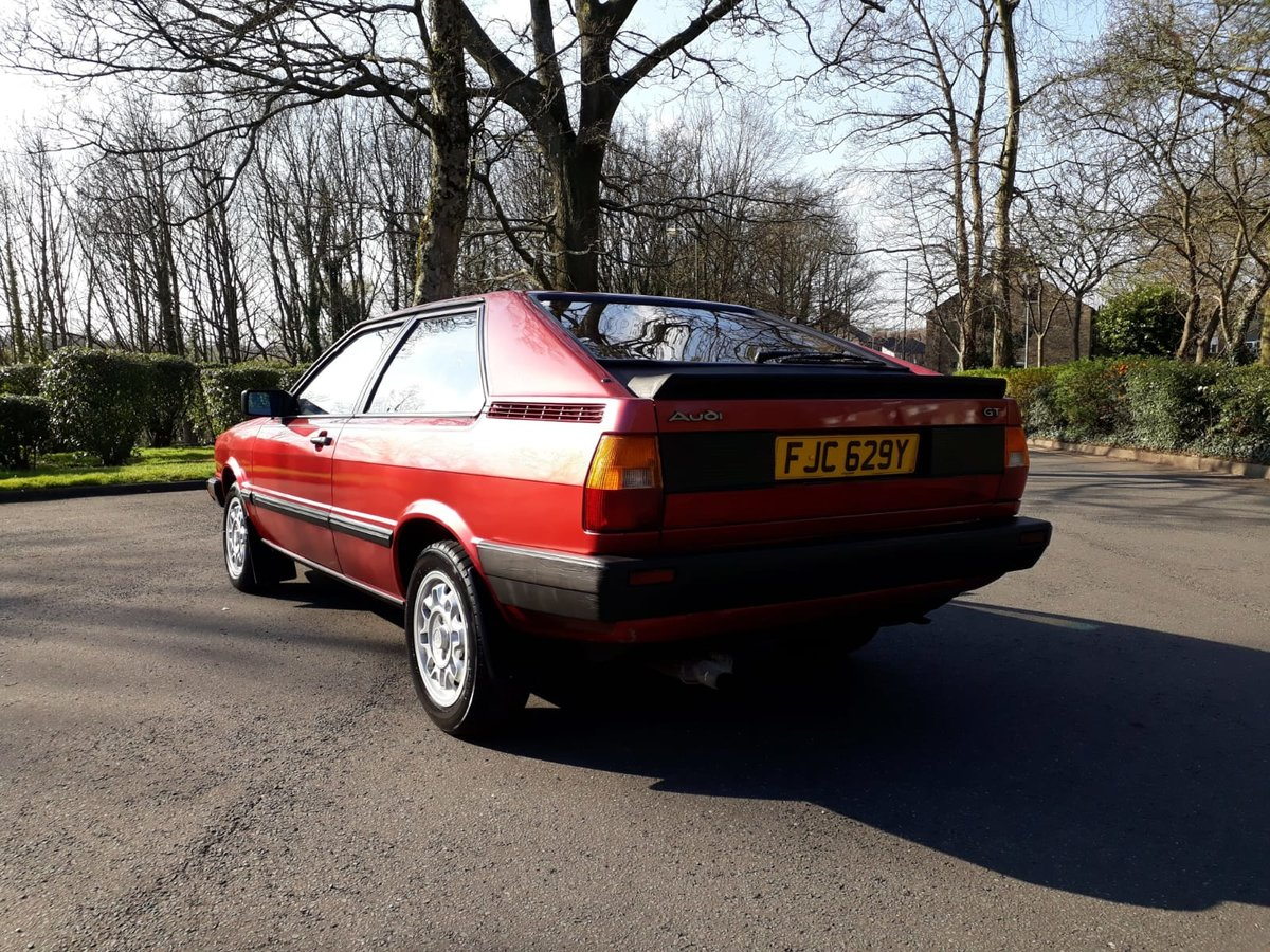 1982 Superb Audi Coupe GT5S For Sale (picture 2 of 6)