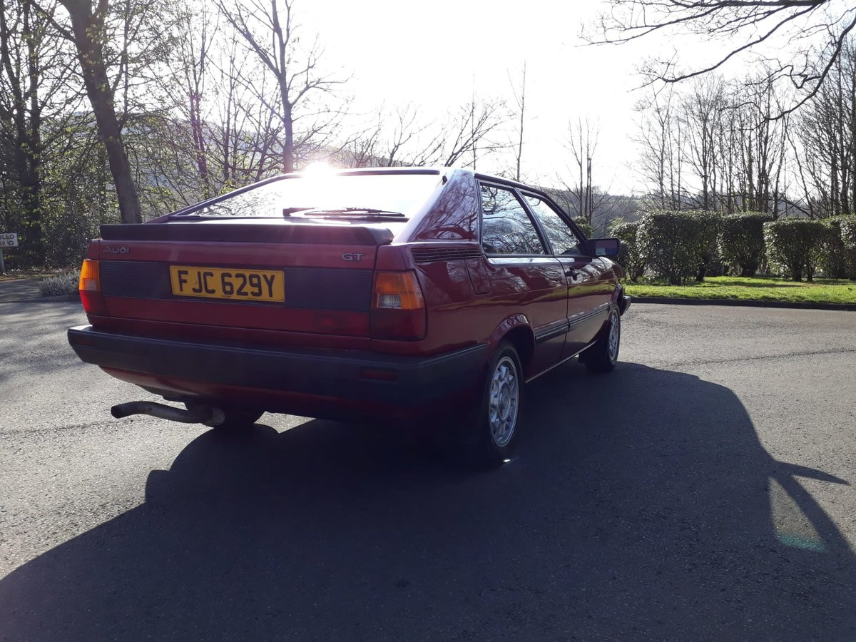 1982 Superb Audi Coupe GT5S For Sale (picture 3 of 6)