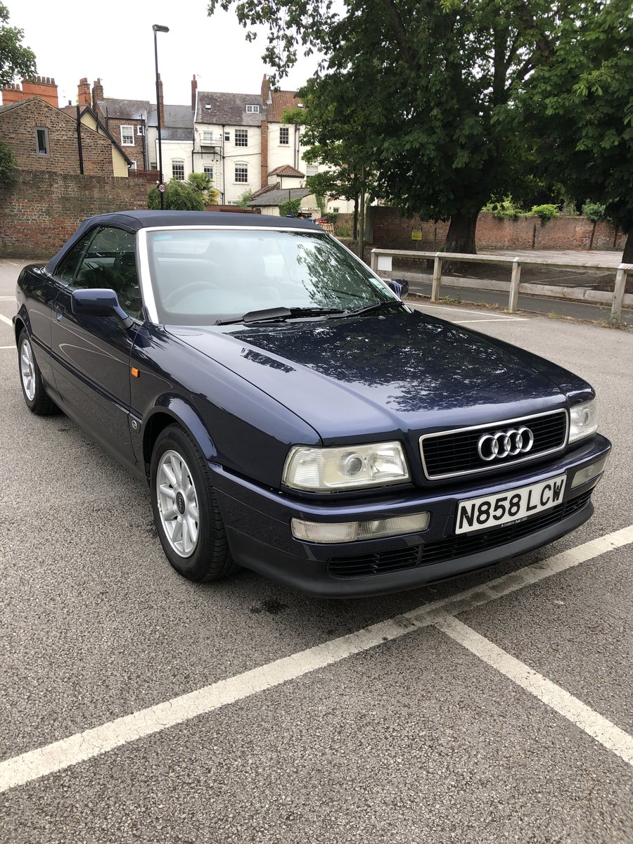 1996 Audi Cabriolet 2.6E Manual 1 owner 17,400mls SOLD (picture 1 of 6)