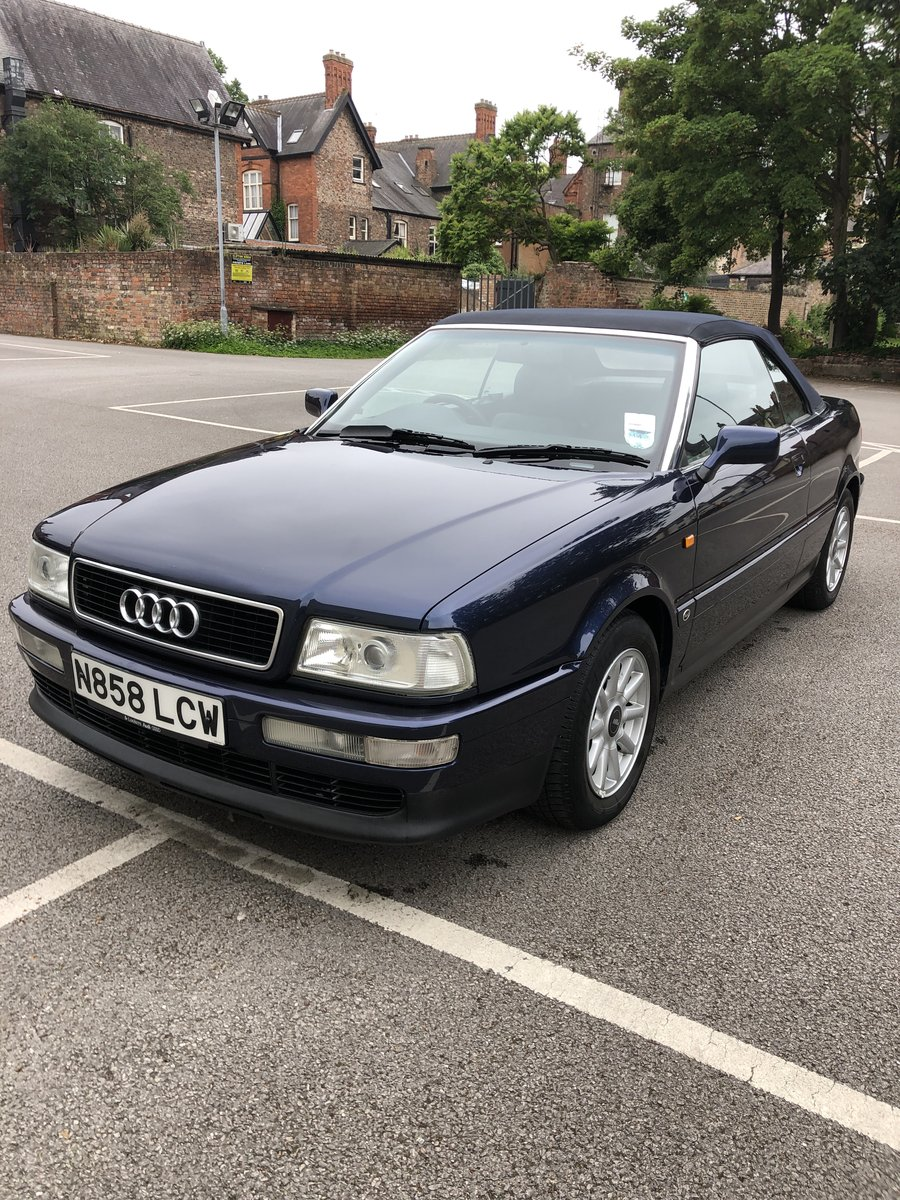 1996 Audi Cabriolet 2.6E Manual 1 owner 17,400mls SOLD (picture 2 of 6)