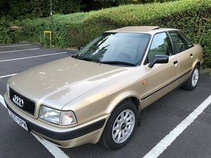Unique Audi 80 classic car in gold
